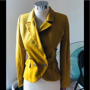 WILLOW & CLAY MUSTARD DOUBLE BREASTED JACKET